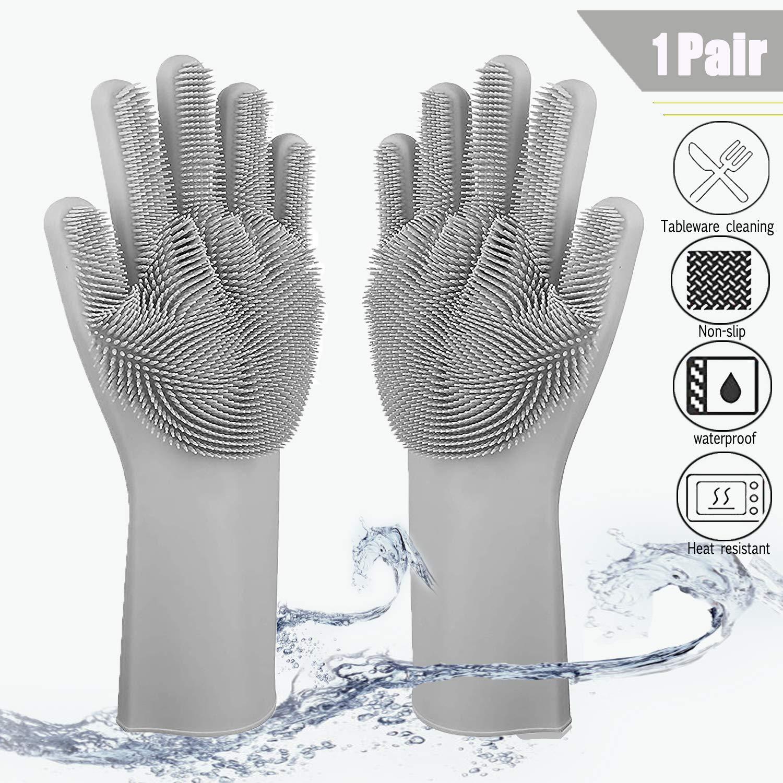Резиновые кухонные моющиеся перчатки для мытья посуды блюдо для фруктов моющиеся перчатки для кухни домашние перчатки для домашних животн...
