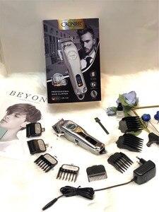 Image 5 - Profissional máquina de cortar cabelo elétrica display lcd recarregável aparador de cabelo para homens barba barbeador barbeiro máquina de corte de cabelo