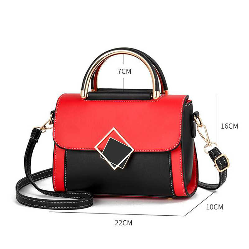 แบรนด์ที่มีชื่อเสียงออกแบบกระเป๋าไหล่ Crossbody กระเป๋าผู้หญิง PU หนังกระเป๋า Messenger กระเป๋าถือไหล่แฟชั่นสแควร์ Tote