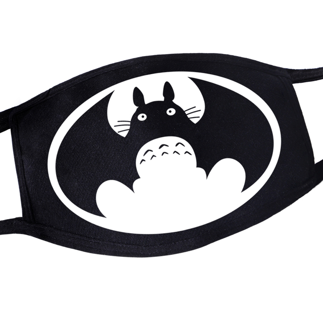 Japanese Anime Bat man Cat Meow Masque Ustproof Anti Sun Reusable Masker Kawaii Mouth Masks 2020 Kpop Harajuku Style Maseczki