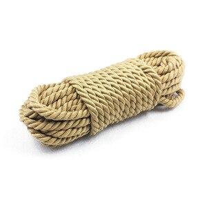 Image 2 - Привязь для связывания шибари, Привязь для связывания веревки, ограничитель для связывания, секс игрушки для взрослых для пар 5 м/10 м, мягкая хлопковая веревка