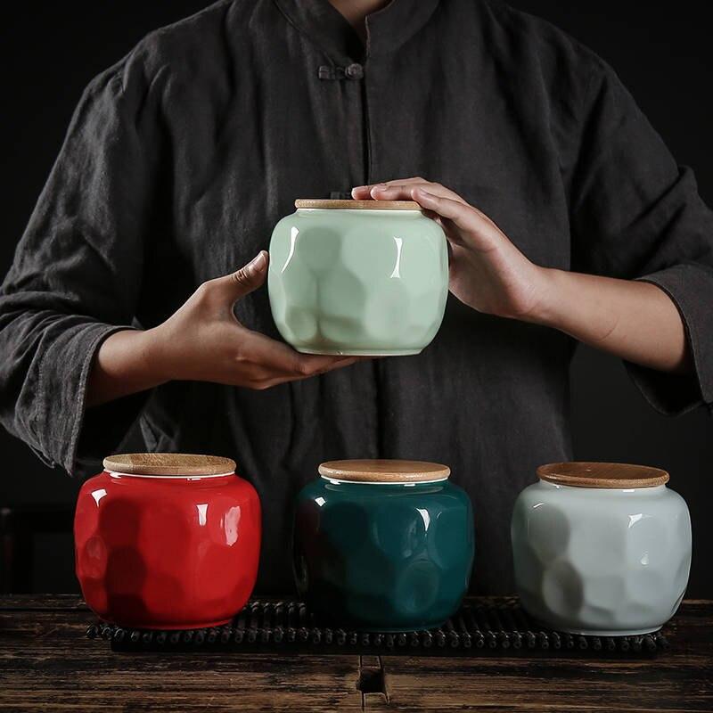 Банка для чая пуэр, керамический контейнер для чая, китайская банка для чая, банка для чая, жестяная банка для чая, емкость для хранения кофе, коробка для хранения чая, уплотнительная емкость для чая|Бутылки и банки для хранения|   | АлиЭкспресс
