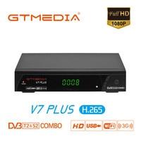 Gtmedia v7 plus DVB-S2 & t2 combo receptor suporte h.265 powervu biss youtube atualização de freesat v7