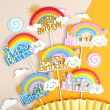 Cakelove rainbow collection cake topper cupcake party for baking birthday decoration decorating tools accessories