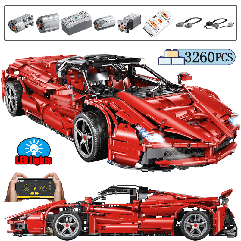 3260PCS City Remote Control MOC Sports RC /non-RC Car Building Blocks for Technic Motor Power Racing Bricks Toys for Children