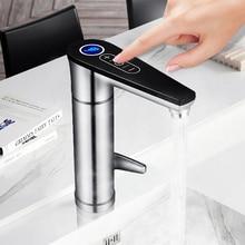 Kbxstart кран с подогревом воды домашний кухонный сенсорный кран для нагрева горячей воды с электрическим душевым 220 В индукционный нагреватель мгновенные Водонагреватель