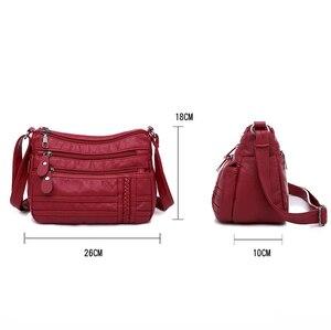 Image 4 - Ladies Multi pocket Messenger Bag High Quality Soft PU Leather Shoulder Bags Casual Crossbody Bags for Women 2020 Bolsa Feminina