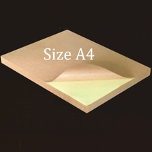 20 Sheets Size A4 Matte Brown Kraft Self Adhesive Sticky Back Shipping Label Sticker For Both Of Inkjet And Laser Printer