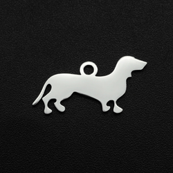 5pcs/lot 100% Stainless Steel 18x21mm Dog DIY Charm Earring Finding Wholesale Top Quality Jewelry Bracelet Making Charms