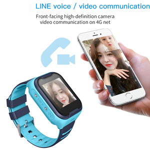 Image 2 - Crianças relógio inteligente crianças 4g wifi gps tracker criança relógio de telefone digital sos alarme relógio da câmera do telefone para crianças pk q90