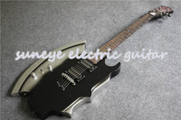 New Arrival Custom Left Handed Electric Guitar Cort AXE Style Electric Guitars Chrome Hardware DIY Guitar Kit Available