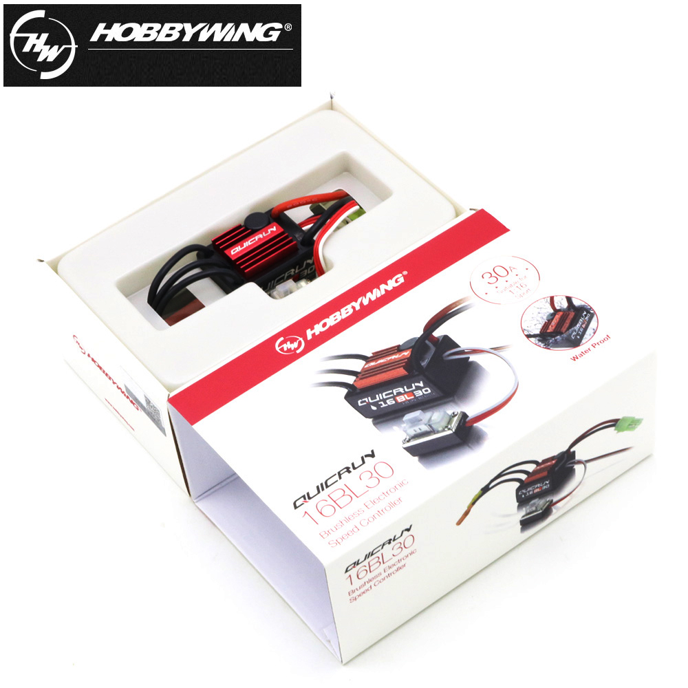 Image 3 - Hobbywing QuicRun WP 16BL30 Brushless Speed Controller/30A ESC+2435 4500kv Motor For 1/16 & 1/18 RC Car30a escprogram cardbrushless speed controller -