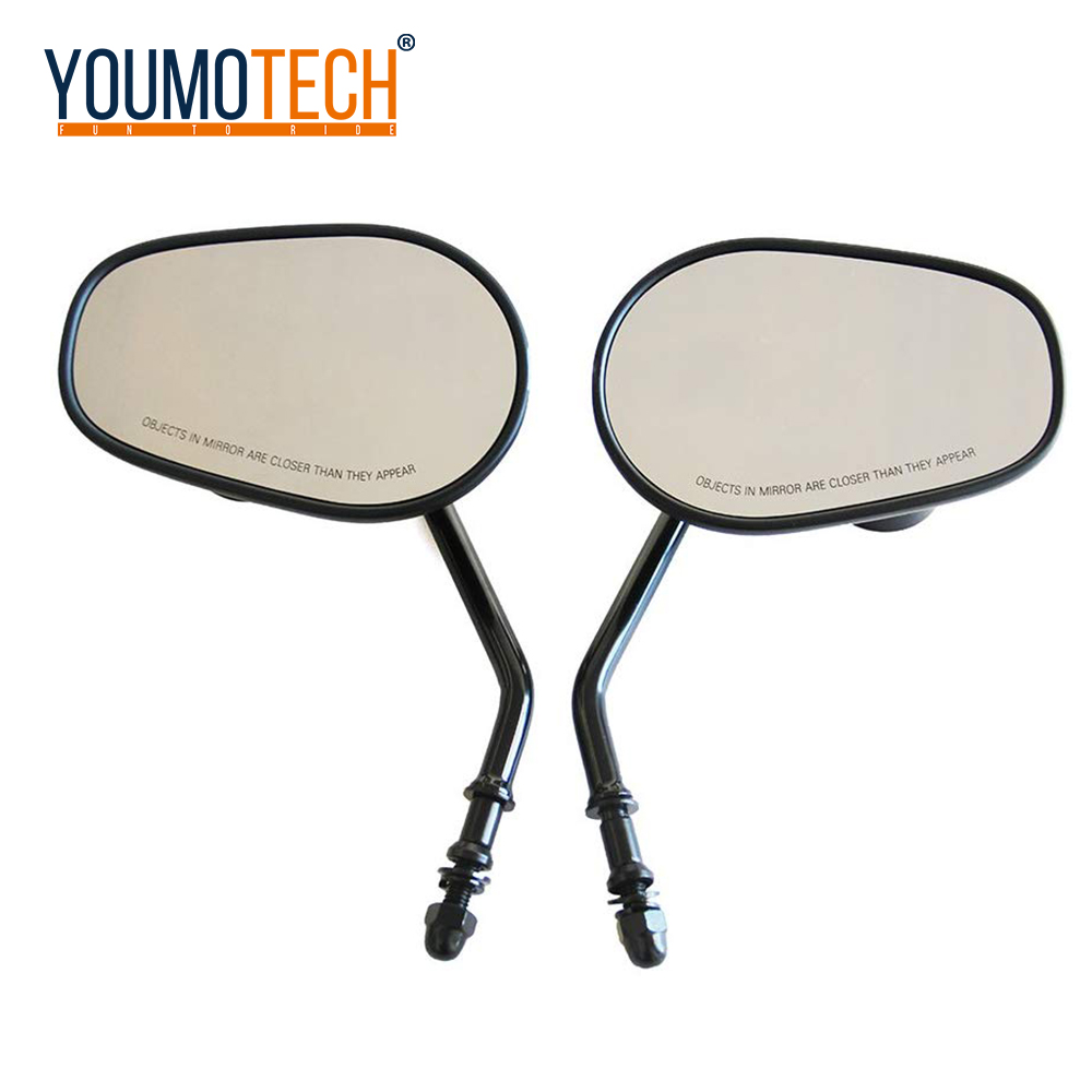 For Harley Dyna Electra Glide Fatboy Iron 883 Road Glide Sportster 883 1200   Softail Motorcycle Rear View Rearview Side Mirrors