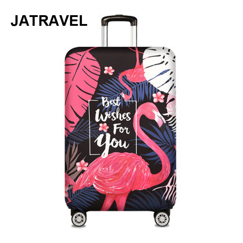 Flamingo Travel Luggage Cover For 18-32 Inch Suitcase Travel Bag Protection Case Luggage Bag Dust Cover Travel Accessorie