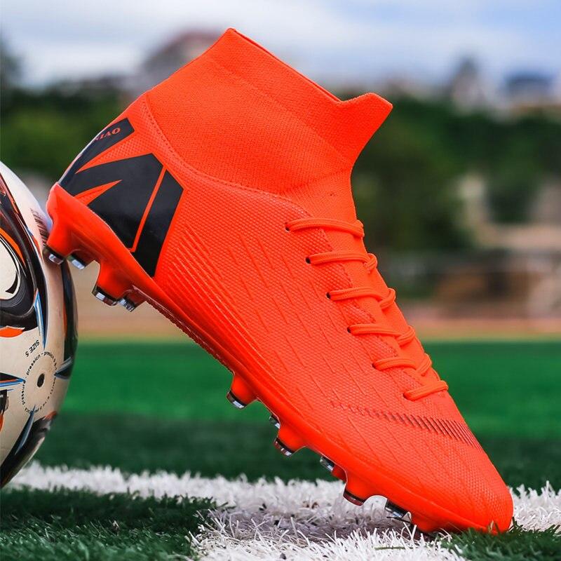 Botas De Fútbol FG/TF Para Hombre, Calzado Deportivo De Fútbol De Alta Calidad, Color Naranja, Novedad