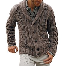 2020 New Winter Autumn Middle-Long Mens Sweater Cardigan Trench Male Autumn Warm Jacket Coat Sweater Male Winter Sweater(China)