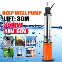 350W Efficient 48/60V DC Submersible Pump High LiftDeep Well Water DC Pump Alternative Energy 30m Solar Powered Submersible Pump