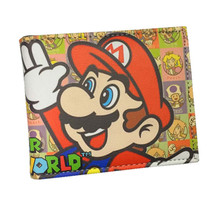 NEW Super Mario Boy Wallets Cute Cartoon Comics Purse Student Nintendo Game Figures Wallet Credit Card Holder Portefeuille
