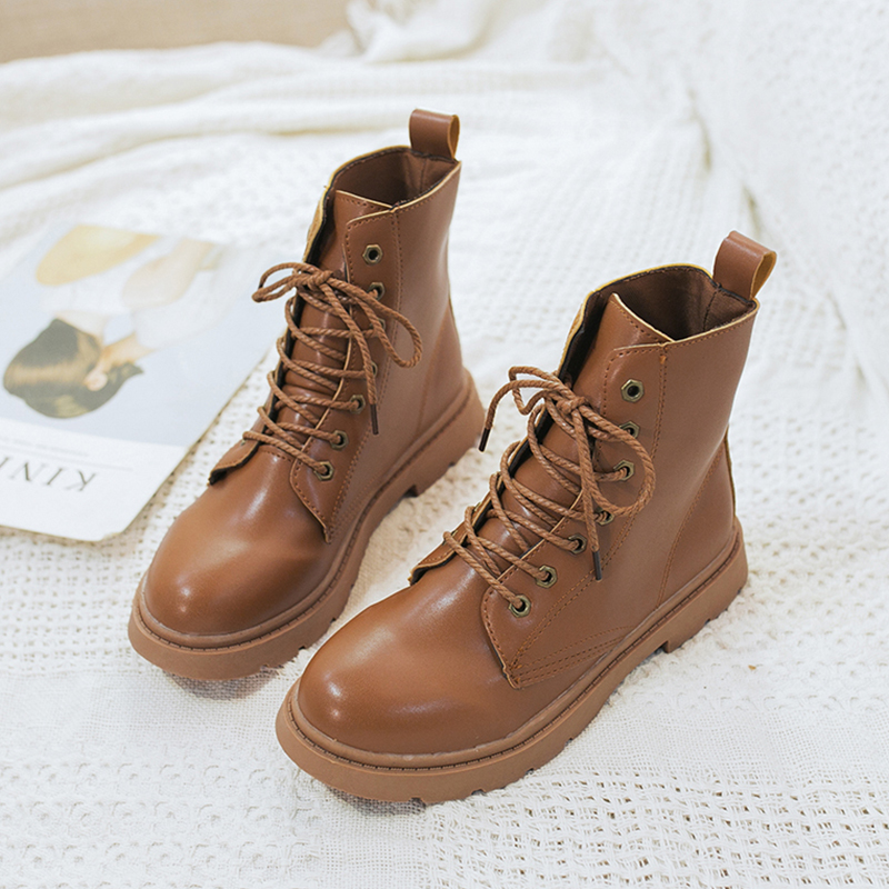 2019 New Lace Up Boots Fashion Womens