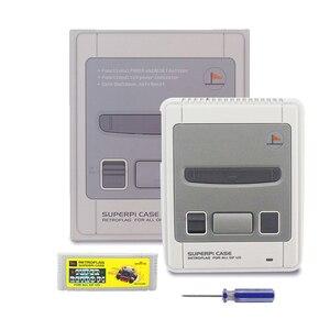 Image 2 - Retroflag superpie CASE J caixa de plástico para raspberry pi + 32 gb cartão sd adaptador de alimentação 3a hdmi ventilador dissipador calor para rpi 3b +