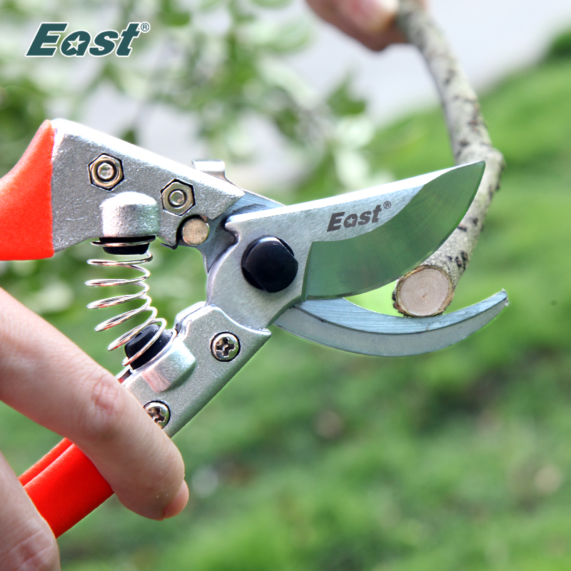 East Gardening Pruning Shear Scissor Anti-slip Garden Grafting Tools Branch Cutting Scissors Trimmer Tools