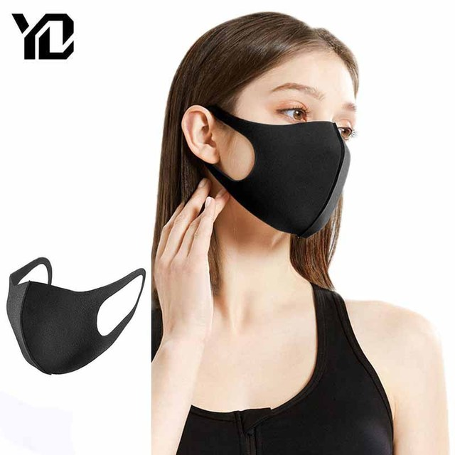 1Pcs Face Mouth Mask Anti Dust Mask Filter Windproof Mouth-muffle Bacteria Proof Flu Face Masks Care Reusable Washable Face Mask
