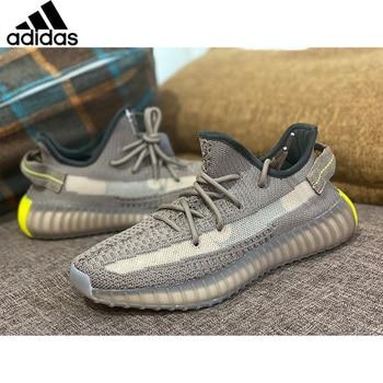 Adidas Originals Yeezy Boost 350 V2 Running Shoes Men Core Black Beluga Blue Tint Zebra Linen Yeezys Air 350 V2 Women Sneaker