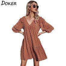 2021 floral chiffon mini vestido feminino manga comprida plus size plissado elegante senhoras vestidos vintage casual boho praia vestido femme