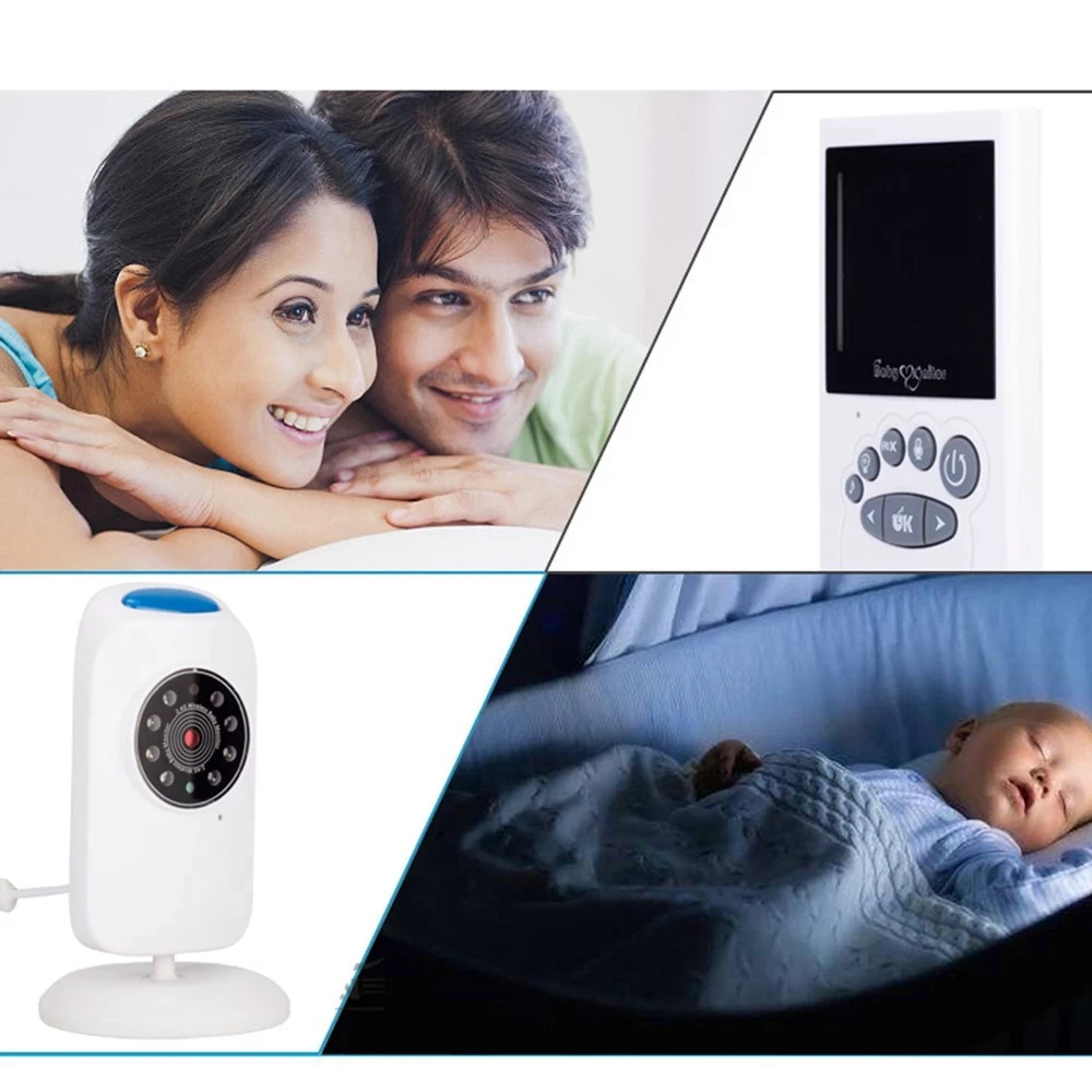 2.4 Inch Wireless TFT LCD Video Baby Monitor Infrared Night-Vision Real-Time Temperature Two-Way Audio Lullabies Baby Nanny Secu