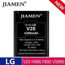 Batterie haute capacité 4200mAh BL-44E1F / BL 44E1F, pour LG V20 H990 F800 VS995 US996 LS995 LS997 H990DS H910 H918, nouveauté