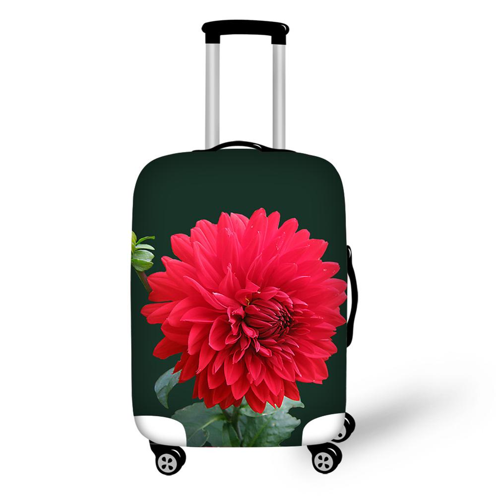 Flora Rose Flower travel accessories suitcase protective Viagem covers 18-32 inch elastic luggage dust cover case stretchable
