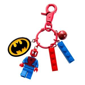 28 Styles Cartoon Minecraft Keychain Marvel Super Hero Iron Spiderman Building Blocks Key chain Actiefiguren Bricks Key Holder(China)