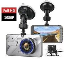 цены Car Family 1080P FHD Car DVR Dash Cam Dual Lens 4