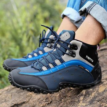Autumn winter Boots Men Fashion ankle boots for men Genuine Leather men Shoes Waterproof outdoor