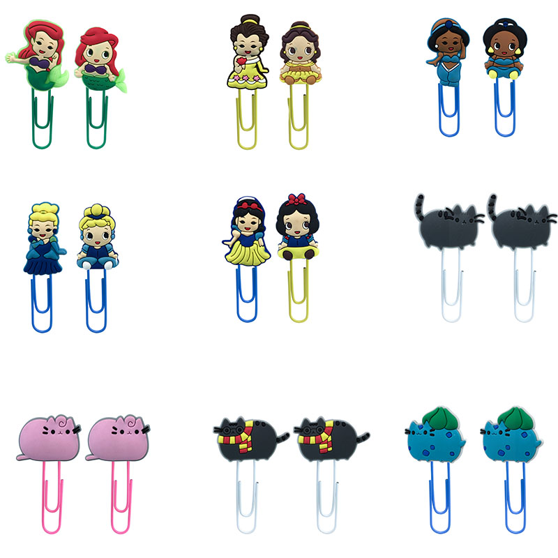 1Pcs Hot Sale Classic Cartoon Cat Bookmarks Paper Clips For School Teacher Office Supplies DIY Decoration For Kids Gifts
