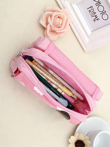 Large Capacity Cute Girl Multifunction Beautiful World Canvas Pencil Case School Stationery Products Material Escolar Papelaria