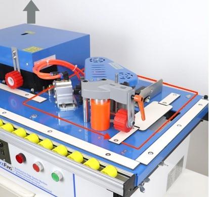 MY06B мульти 42 кг машинка для облицовывания кромки машина с склеивания, обрезки и концевой резки с функцией вращения для прямой, кривой - Цвет: square rotation