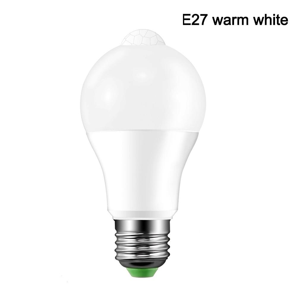 B22 E27 PIR Detector Motion Activated Sensor Smart LED Light Bulb Lamp 85-265V 10W For Corridor Pathway Stair Home Garden Yard