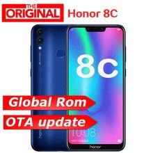 Firmware global honor 8c celular octa core 4000mah3, cartões vezes id facial tela cheia 6.26 polegadas snapdragon 632 celular
