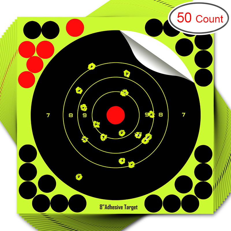 50pcs Round Target Pasters Shooting Stickers 8 Inch Self Adhesive Stickers Shooting And Hunting Target Dots Sticker Gun Rifles
