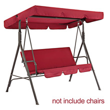 2pcs set For 3 Seater Replacement Parts Dustproof Universal Patio Swing Seat Cover Waterproof Sunproof Garden Chairs Solid cheap Oxford Manual Other