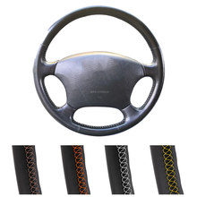 Leather Car Steering Wheel Cover For Toyota Prado 120 2004-2009 Land Cruiser 1995-2007 Tacoma Hilux Volant 2005 2006