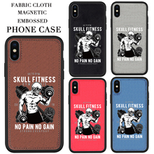 Original design Skull fitness Fabric phone Case For iPhone 11 Pro XS X