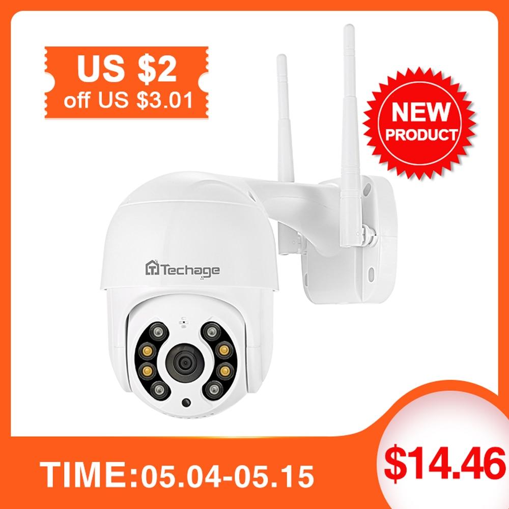 Techage 1080P MINI PTZ Wireless IP Camera Speed Dome 2MP WIFI CCTV Security ONVIF Outdoor P2P Audio AI Human Detect Onvif