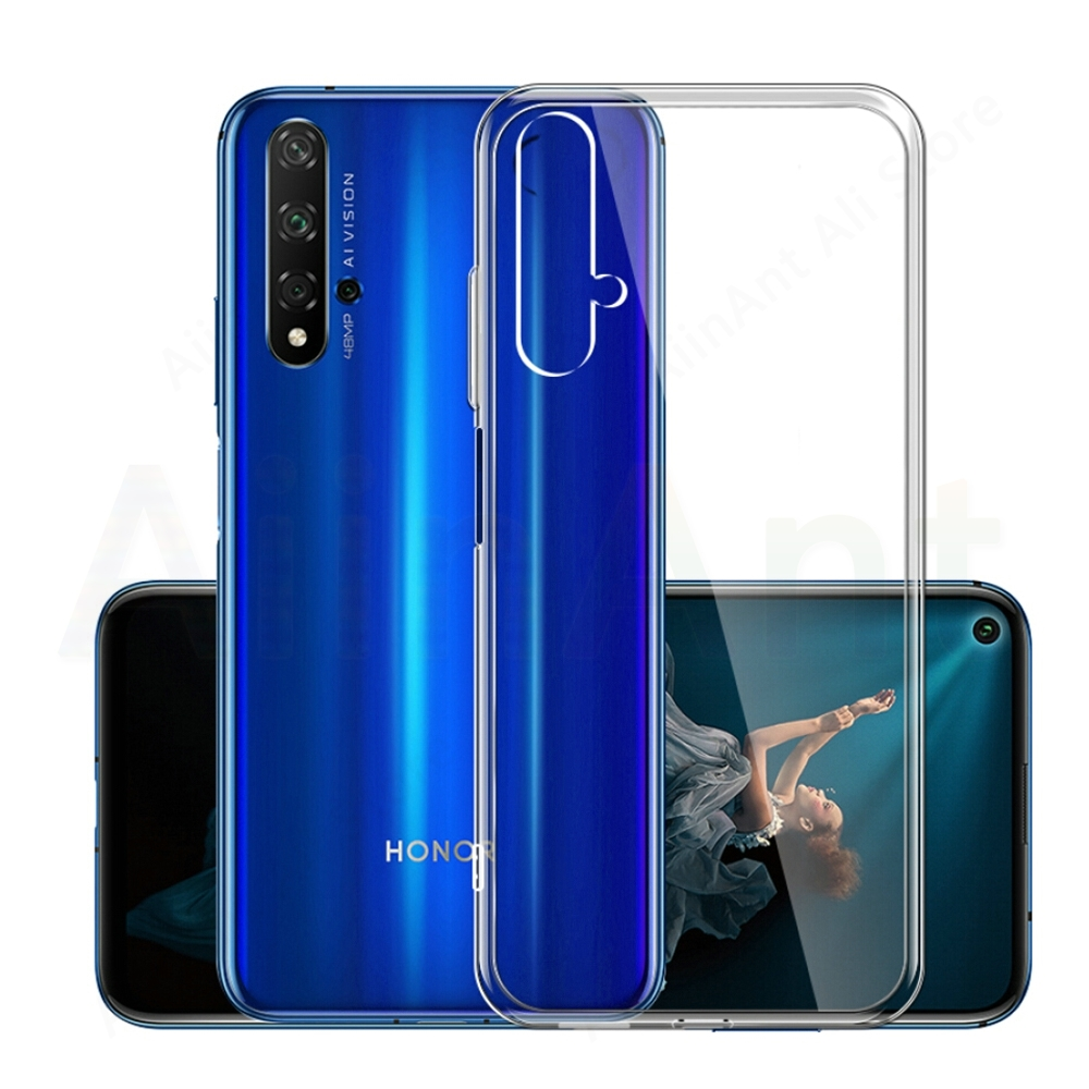 Soft Phone Case For Huawei Honor 8 8C 8S 8X 9 9i 9X 10 10i 20 20i Lite Pro Transparent TPU Silicone Phone Cover Cases Shell in Fitted Cases from Cellphones Telecommunications
