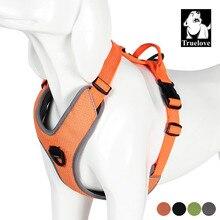 Truelove yastıklı yansıtıcı köpek evcil hayvan koşumu küçük büyük yumuşak yürüyüş ile ayarlanabilir kolu emniyet kemeri evcil hayvan malzemeleri Dropshipping