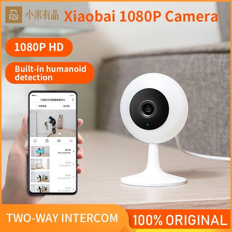 Xiaobai смарт-камера популярной Версии 1080P HD беспроводная Wifi инфракрасная камера ночного видения 100,4 градусов IP домашняя камера видеонаблюдени...