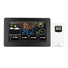 WiFi stacja pogodowa kontrola aplikacji inteligentny Monitor pogody wewnętrzna temperatura zewnętrzna wilgotność barometryczny zegar cyfrowy prędkości wiatru