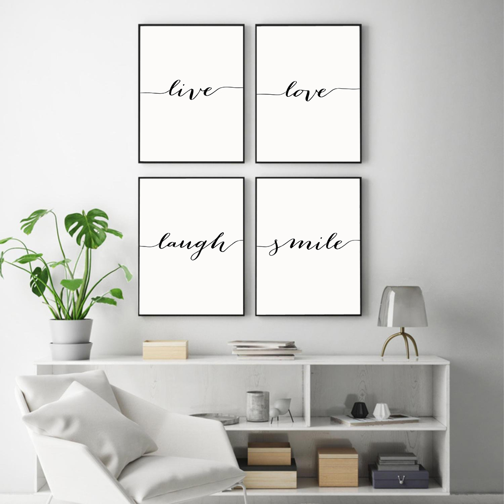 Live  Love Laugh  Smile Canvas Poster Print Painting Minimalist Wall Art Wall Pictures for Living Room Nordic Home Decoration