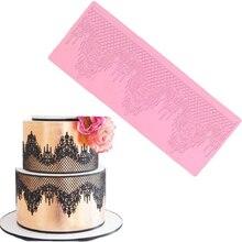 цена на Flower Lace Pad Molds Cake Decoration Mold Silicone Mould Chocolate Sugar Craft Molds Fondant Baking Tool